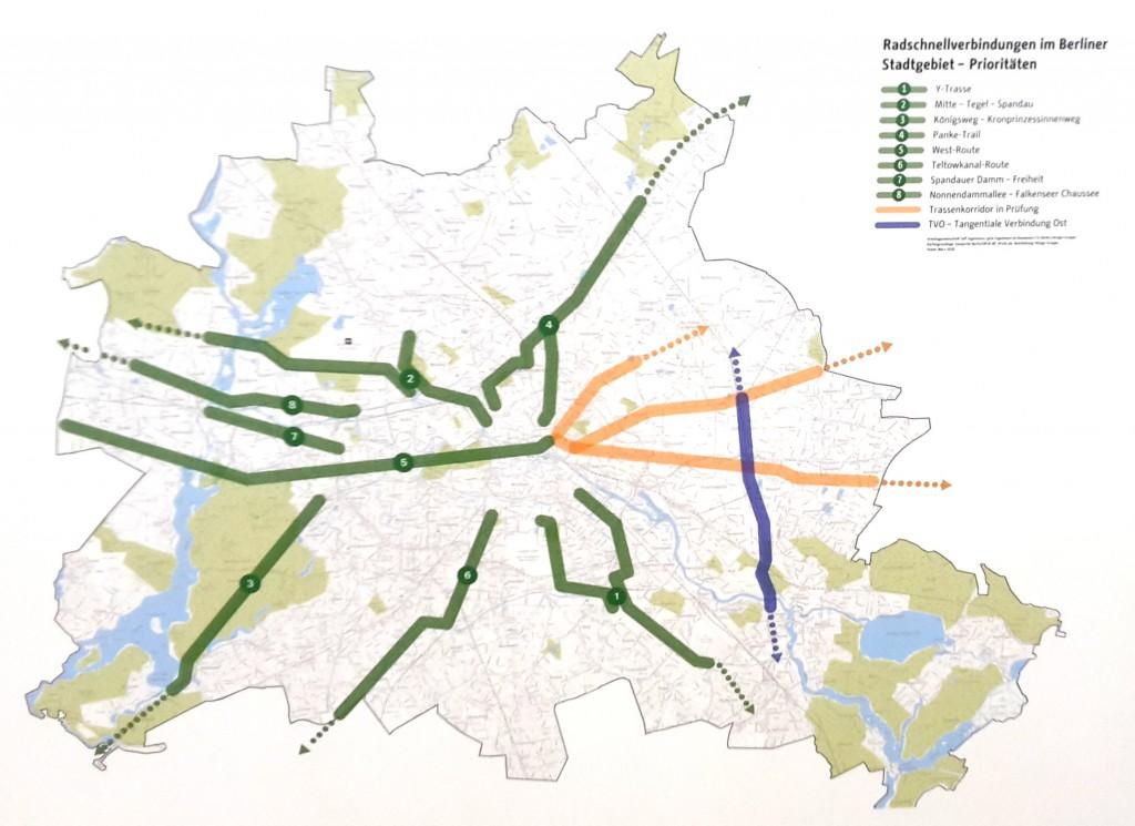 geplante Radschnellwege in Berlin