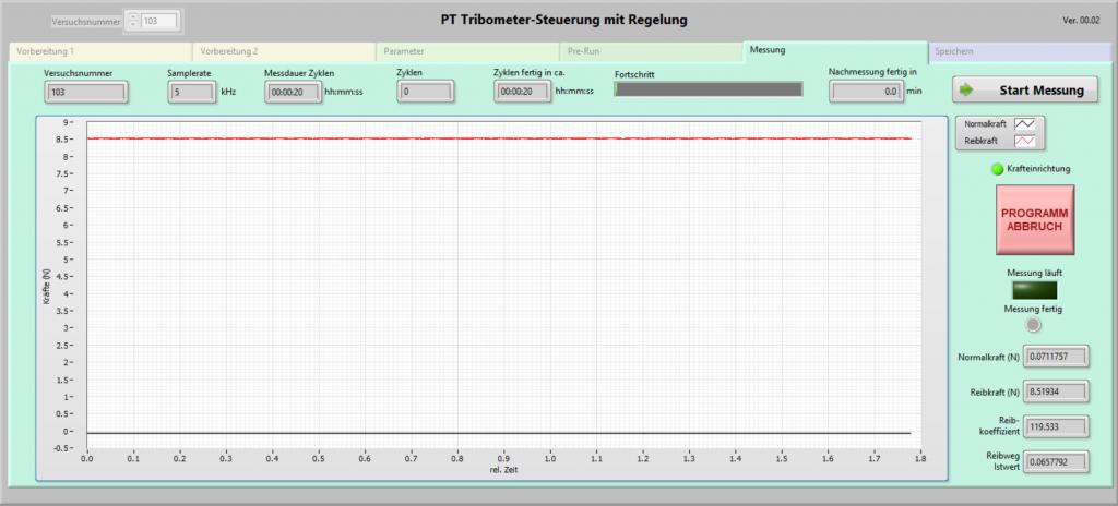 Tribometer Steuerung LabView Messung